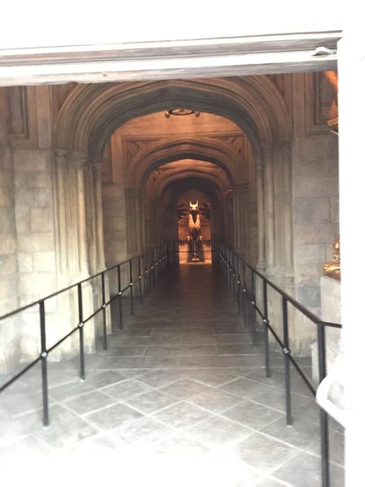ホグワーツ城の内部への入り口
