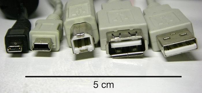 USBのタイプ一覧