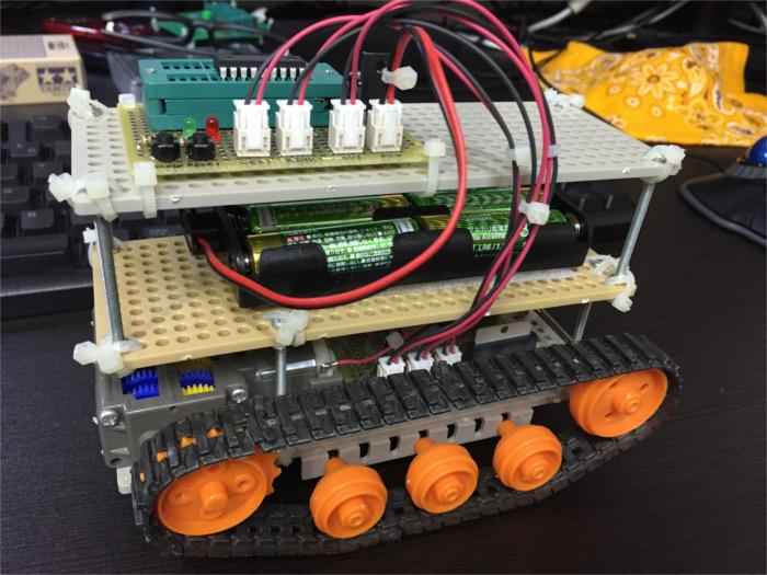 PICマイコンで作った戦車型のロボット