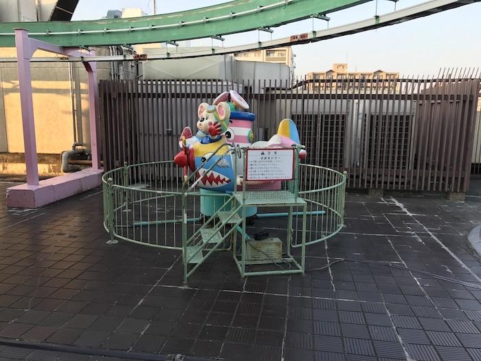 デパートの屋上遊園地